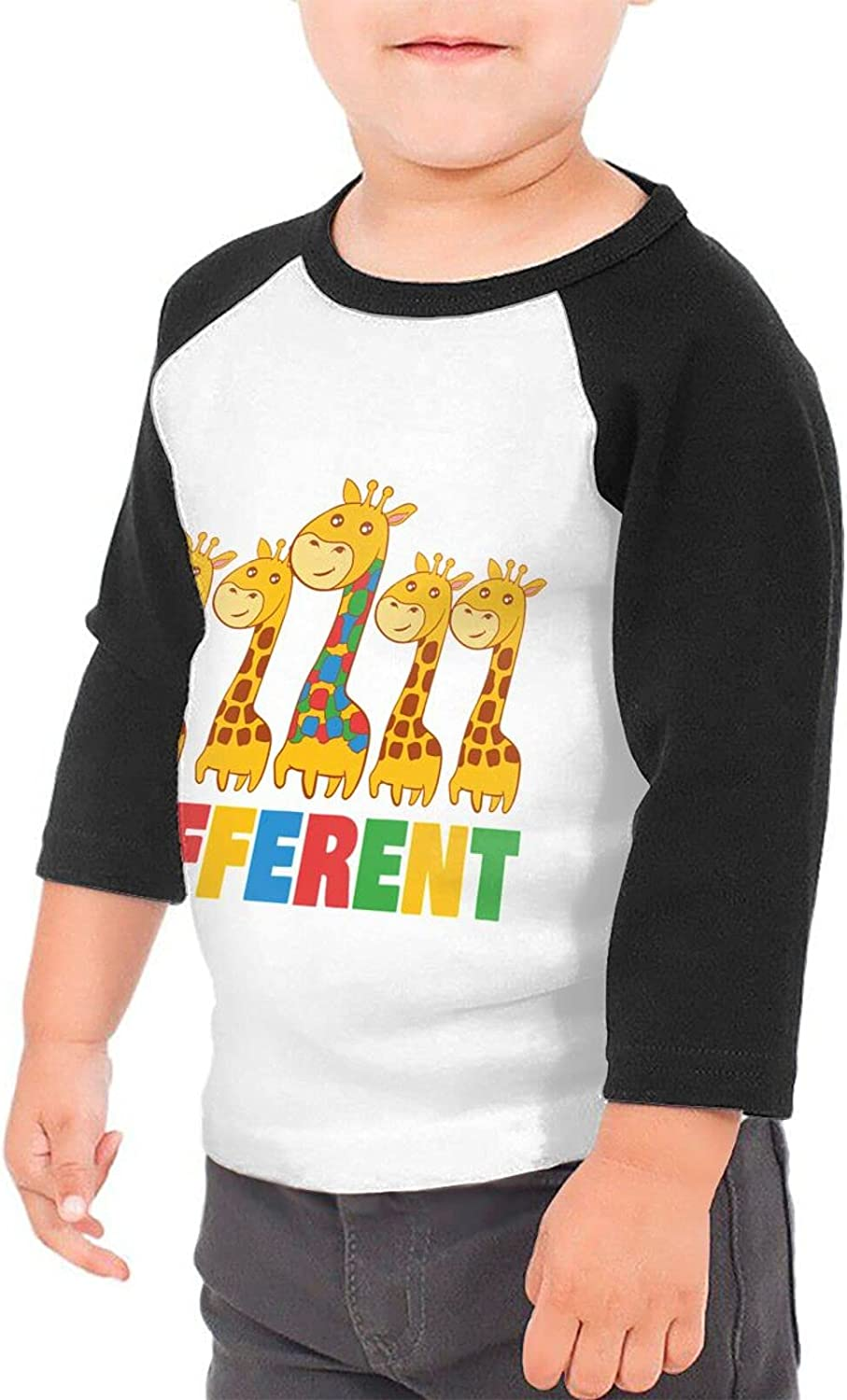 Its Ok to Be Different Giraffe T-Shirts Novelty for Girls Tees with Cool Designs