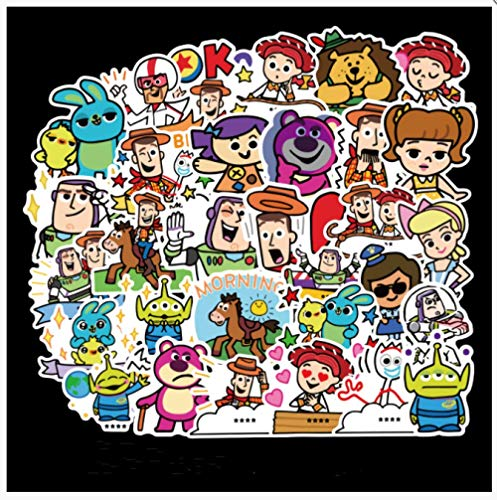 YYSDD Cartoon Cute Stickers Trolley Suitcase Suitcase Waterproof Skateboard Laptop Luggage Mobile Phone Computer Stickers 50 Pcs