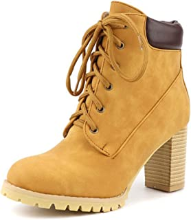 Women's Chunky Heel Round Toe PU Booties/Ankle Boots