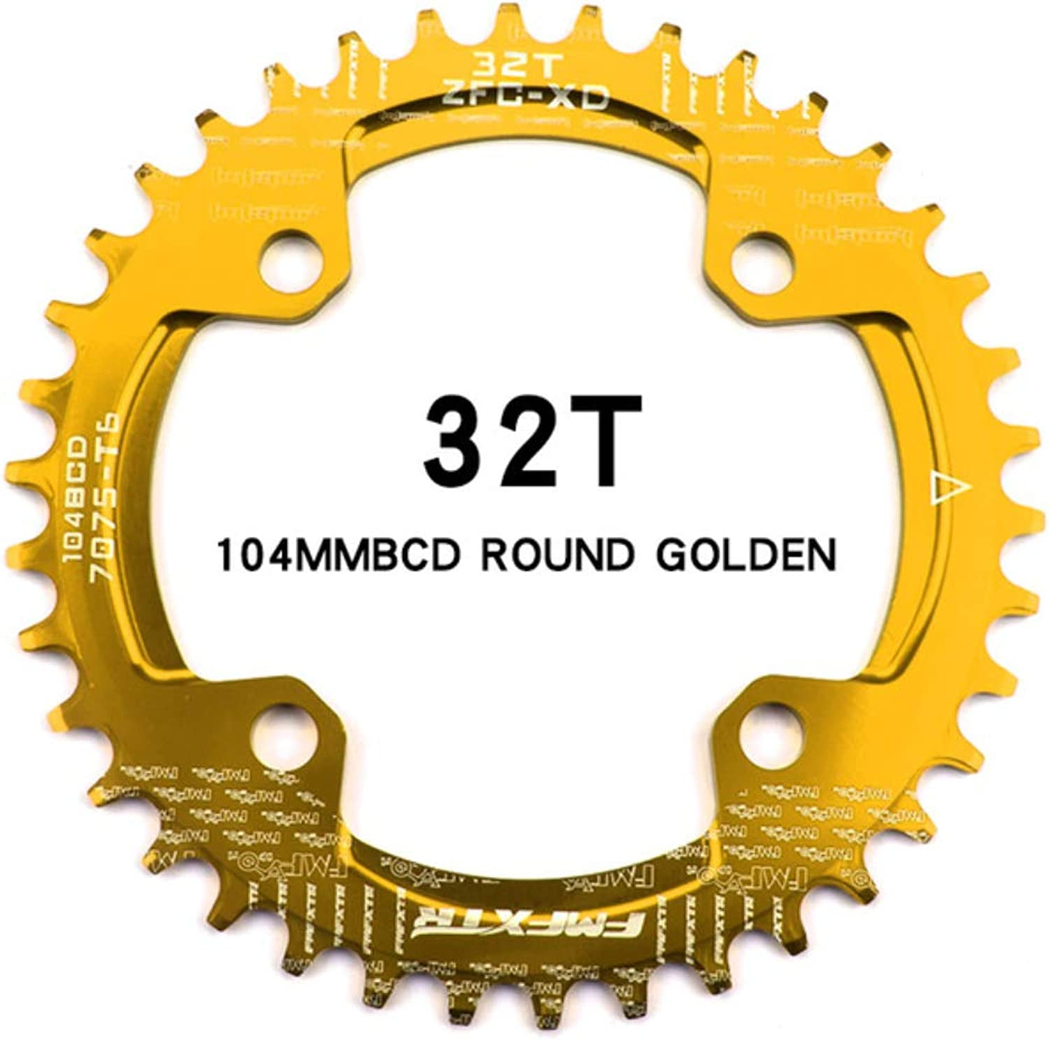 AM XC Bicycle 104BCD Round Single disc, 32T   34T   36T   38T Mountain Bike Bicycle Plate disc and Crank Veneer, Purple