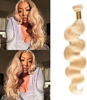 FASHION LADY 613 Blonde Hair Bundles Silk Body Wave Peruvian Virgin Hair 100% Unprocessed Human Hair Weave 1 Bundle 100g 18 Inch