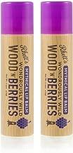 Beard and Lady -Rhett's Wondrously Wild Wood N Berries Mythical Lip Balm - Clear Round Tube - 2 Pack of 0.15 fl oz balms