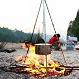 Outdoor Camping Picnic Cooking & Lantern Tripod. Camp Fire Tripod Dutch Oven Pot