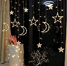 Myra Plastic 6 Stars and 3 Moons Curtain String Lights for Decorations
