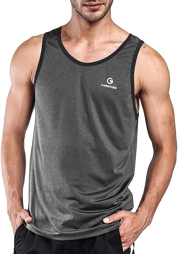 OGEENIER Men's Dry Fit Workout List price Tank Sleeveless Tops Gym Spring new work Muscle T
