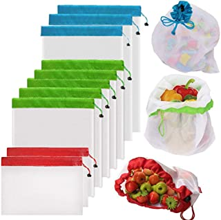 pattern: geometric washable grocery bag Small reusable fruit and vegetable bag bulk bag eco-friendly zero waste