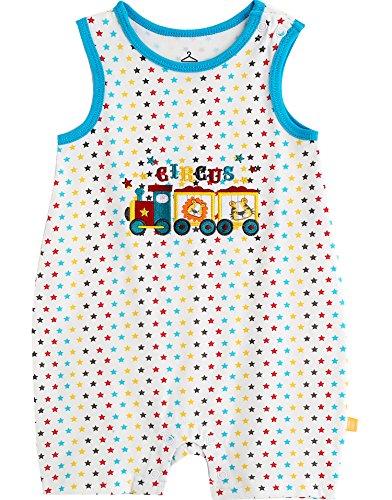 vaenait Baby 56–80 sau TONGLING bébé manches courtes un Stuc Romper Sleeveless Circus - Multicolore - Large