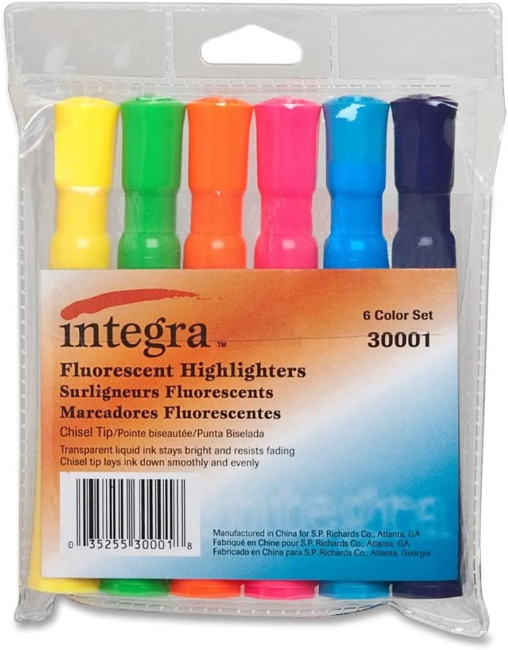 Popularity Award ITA30001 - Integra Chisel Desk Highlighters Tip