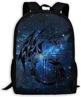 Tribal Dragon Gemini Tattoo Backpack Women 3D Print Daypacks For Men