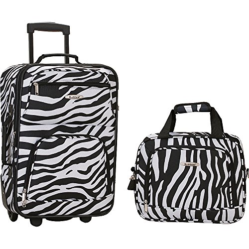 Rockland Printed 2 PC ZEBRA LUGGAGE SET