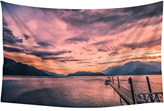 Canada Harrison Lake Beautiful Landscape 13 - Wall Tapestry Art For Home Decor Wall Hanging Tapestry 60x40 Inches
