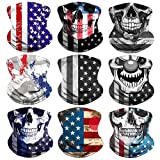 Headband Flag Face Bandana Head Wrap Scarf Neck Warmer Skull Headwear Balaclava for Sports (CO-8)