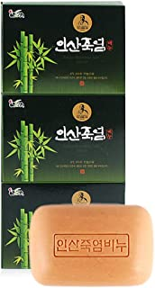 Insan 9 x roasted Bamboo Salt Soap K Beauty Soap, 100% Pure Natural/Antioxidant-죽염 비누 (PACK OF 3)