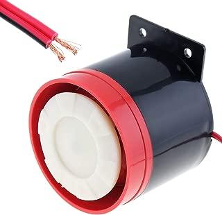 Black & Red 105dB Reversing Back up Alarm Horn Speaker for Motorcycle Car Vehicle
