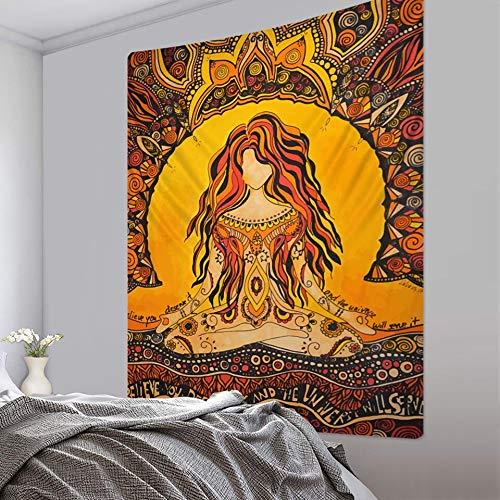 PPOU Tapiz de Mandala místico Indio Tapiz de brujería de Pared Tapiz de Fondo Hippie Bohemio Manta de Tela Colgante A3 180x200cm