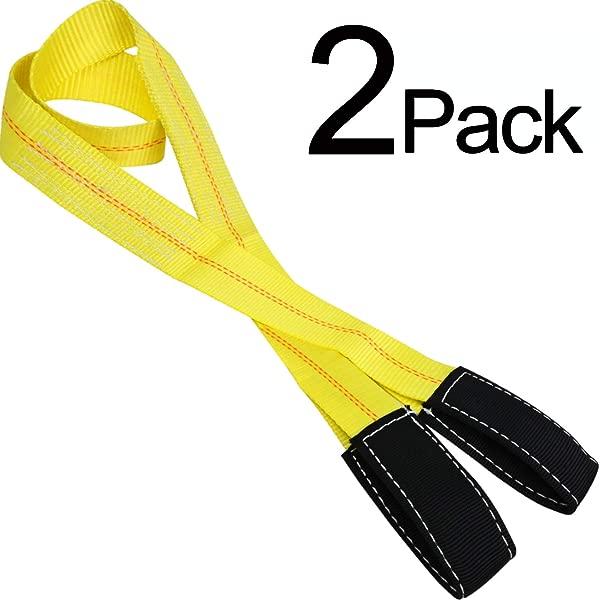 Trekassy 2 Pack 6 X 2 Lift Sling Straps 10 000lbs Max Vertical Break Strength Capacity