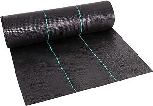 Cheruje 3 x 250ft Weed Barrier Landscape Fabric Heavy Duty 2.5oz Polypropylene Fabric Gardening Mat High Permeability Easy...