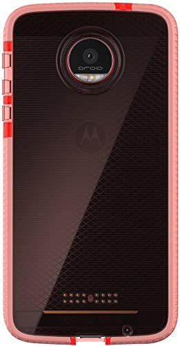 2021 Tech21 Evo Check Advanced outlet online sale Protection Case outlet online sale for Moto Z Droid - Pink/White online