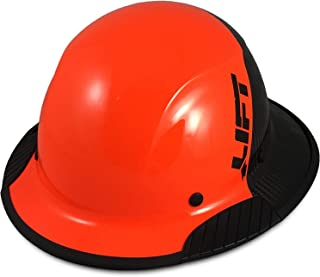 Texas America Safety Company Actual Carbon Fiber Material Hard Hat with Hard Hat Tote- Full Brim (Orange and Black)