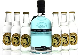 Gin & Tonic Set - The London No. 1 Original Blue Gin 1 x 0,7L mit Thomas Henry Tonic Water 6 x 0,2L