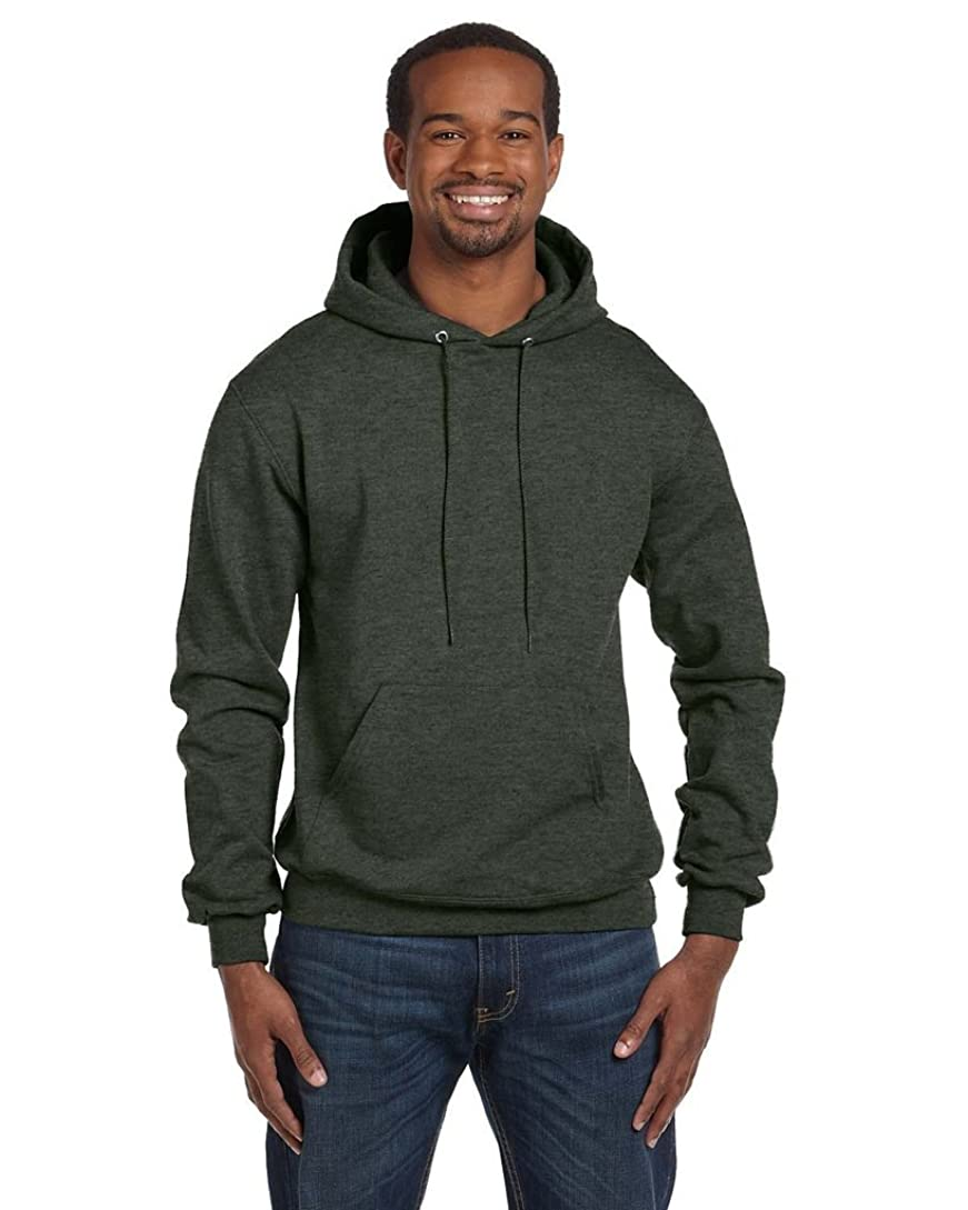問題肘かもめChampion Double Dry Action Fleece Pullover Hood, Dk Green Heather, Size - 3XL