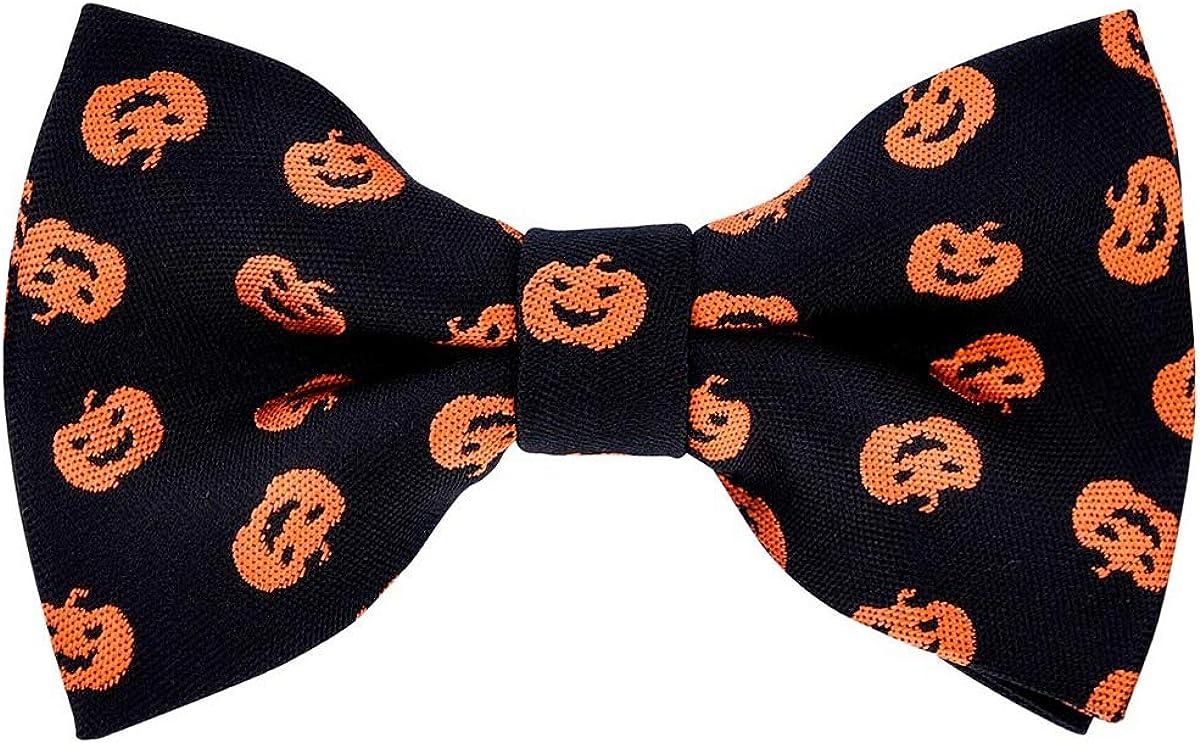 Retreez Joyful Fun Happy Halloween Pattern Woven Pre-tied Boy's Bow Tie