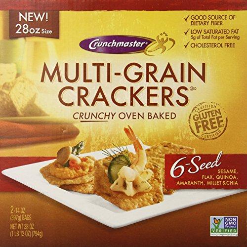 Crunch Master Multi Grain 6 Seed Cracker, 28 Ounce, 879890000694