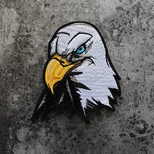 FFDGHB Hilos De Tejer Naturales IncreíBle Animal Kingdom Eagle Bordado Parche Bordado Bordado Completo ArtesaníA Velcro 8 * 9.5 Cm