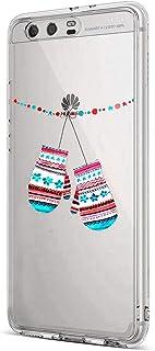Felfy kompatibel med Huawei P10 Christmas skyddsskal, Handskar