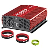 POTEK 3000W Power Inverter 12V DC to 110V AC Car Converter 4 AC Outlets with 2 USB Ports