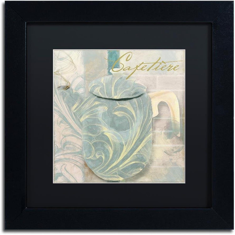 Trademark Fine Art ALI4488-B1111BMF Pots blues II by color Bakery, Black Matte, Black Frame 11x11