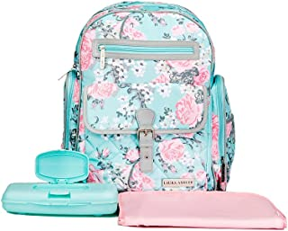 laura ashley rose diaper bag