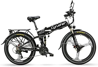 Cyrusher XF770 折り畳み自転車 マウンテン自転車 フルサスペンション 48V 10Ahバッテリー モーター500W