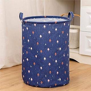 Panier à linge sale pliable en lin imperméable, grande capacité, sac de rangement pour vêtements sales, poubelle de rangem...