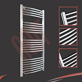 600 mm (w) x 1200 mm (h) - Cromo Curvado Radiador toallero horizontal Diámetro : 22 mm, Bar Modelo: 4 + 5 + 6 + 7