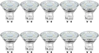 LE Bombillas LED, GU10 4W Equivalente 50W Halógena 350lm Blanco Luz de Día, Pack de 10