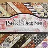 Set of 36 patterned papers and 4 DIE-Cut Sheets, Including Alphabets,Borders,Tags and Icon Thick Paper Sheets for Making Envelopes, Scrapbooking Designs, Greeting Cards and More. Rich and Vivid Prints with Soft Pastels, Bright Solids and Rich Metalli...