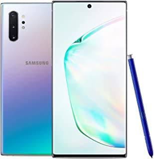 Samsung Galaxy Note 10+ Plus 256GB GSM Unlocked Smartphone, Aura Glow / Silver (Renewed)