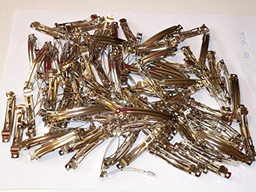 ERRO Barrettes Cheveux 8 cm Lot de 100, Idée Cadeau professionnelle – Pinces à cheveux pour travaux manuels au jardin d'enfants, la maison et à l'école. Pratique Cadeau de Noël