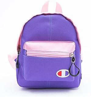 Leng QL Personality Backpacks Leisure Travel Parent-Child Backpack Children's Schoolbag(Large Size,Purple)