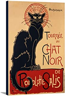 Chat Noir - Tournee Vintage Poster (artist: Steinlen, Theophile Alexandre) France c. 1896 (24x36 Gallery Wrapped Stretched Canvas)