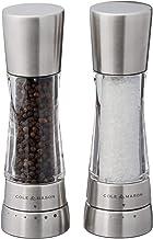 COLE & MASON Derwent Salt and Pepper Grinder Set - Stainless Steel Mills Include Gift Box, Gourmet Precision Mechanisms an...