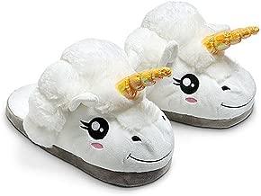 Kenmont Zapatillas de Estar por casa Zapatos Peluche de Felpa Unicornio para Adulto Talla Europea: 36-41