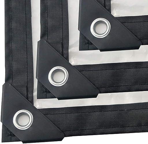 F-S-B BacheBache Claire imperméable de 0.12mm résistant, PE Anti-vieillisseHommest imperméable en Plastique Transparent de PVC avec des Oeillets,5  8m