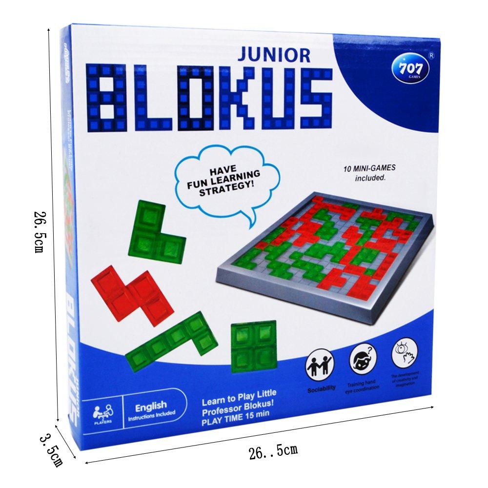 Hanmun Estrategia Blokus Juego Educativo Juguete 2017 Nuevo Diseño Brain Teaser Juego Mental Fast-paced Race para la Familia Tiempo para Niños 3+.: Amazon.es: Juguetes y juegos