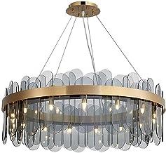 Postmodern minimalistisch glas kroonluchter/licht luxe lange opknoping draad verstelbare kroonluchter/nordic driekleurige ...