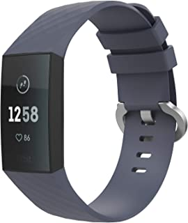 TiMOVO Fitbit Charge 3 armband, silicone vervangende horlogeband sportarmband band reserveband met gesp voor Fitbit Charge...