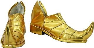 Allten JoJo's Adventure Dio Brando Golden Ankle Boots Shoes Cosplay Costume (11 M US Male)