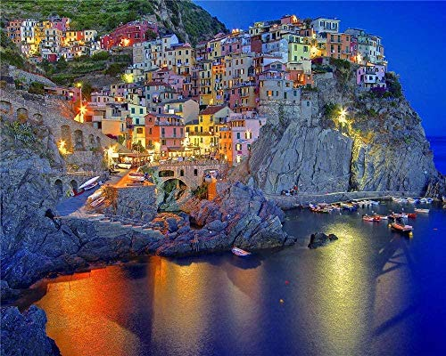 RHUA1000 pezzi Puzzle Italia Liguria Luci crepuscolari per bambini e adulti Gioco di puzzle in legno con assemblaggio personalizzato