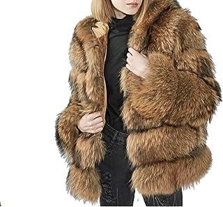 ESAILQ Kleider Frauen Kunstpelz Nerz Jacke Winter Kapuze Dicke Oberbekleidung Warm